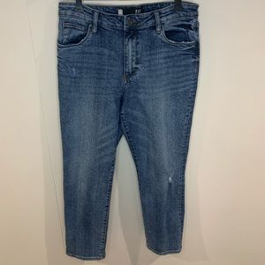 Kut from the Kloth Jeans - KUT Reese Jeans High Rise Ankle Straight Leg 10